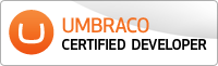 Umbraco Certified Developer logo